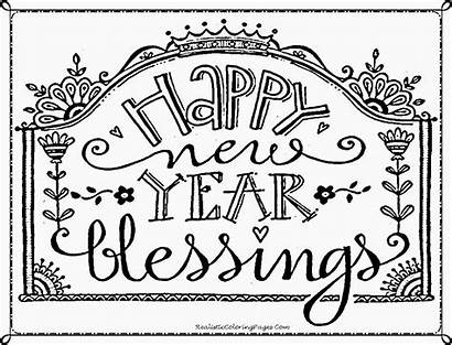 Coloring Happy Pages Printable Christian Blessings Clipart