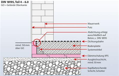 feuchtigkeitssperre auf bodenplatte detail anschluss fassade an bodenplatte detail