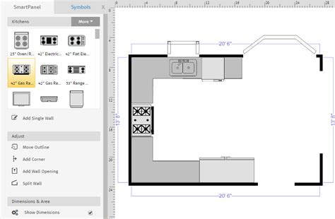 kitchen templates for floor plans advanced floor plan tutorial creating layers 8648