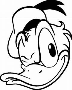 Donald Duck Face Coloring Pages - Coloring Home