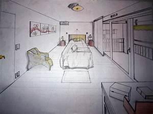 Beautiful Chambre En Perspective Avec Point De Fuite Photos ...