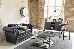 Decorer un salon dans le style industriel joli place for Nettoyage tapis avec canapé vintage industriel