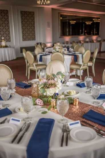 rose gold and blush pink downtown st pete wedding navy
