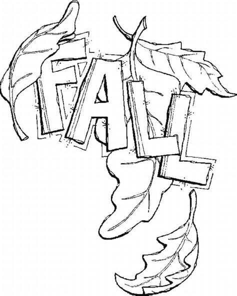 fall coloring pages getcoloringpagescom