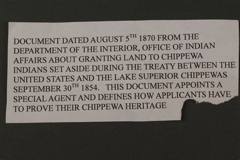 united states department of interior bureau of indian affairs lot 502 dept of interior document chippewa indians