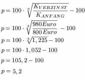 Durchschnittszinssatz Berechnen : zinseszins ~ Themetempest.com Abrechnung