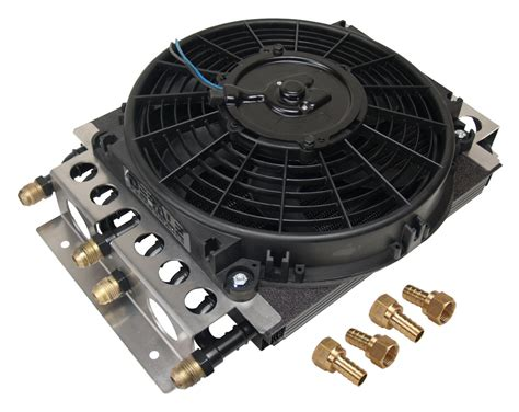 fluid cooler with fan derale 15200 fluid cooler and fan 8 8 passenger 11 1 2