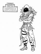 Coloring Fortnite Pages Raven sketch template