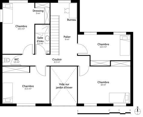 faire un plan de chambre plan maison contemporaine avec 5 chambres ooreka