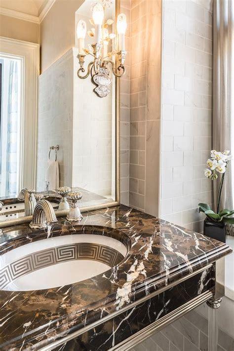 brown marble bathroom vanity transitional bathroom