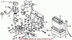 Honda Cm250c Custom 1982 Usa Battery    C D I  Unit