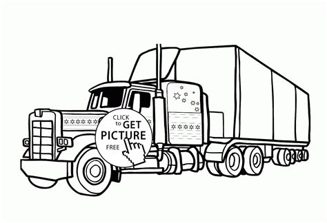 Crammed Camper Trailer Coloring Pages Truck And Rv 4567