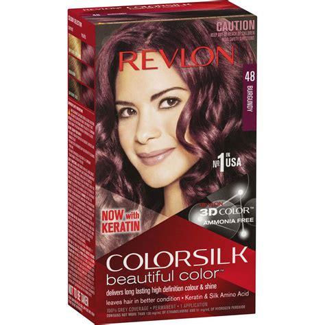 revlon colour silk hair colour  burgundy  woolworths