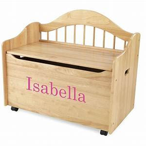 KidKraft® Personalized Limited Edition Toy Box, Natural