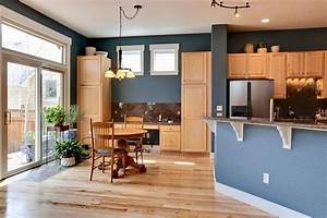 Blue walls kitchen on pinterest brown walls kitchen for Best brand of paint for kitchen cabinets with world maps wall art