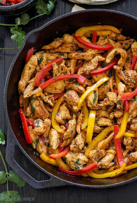 chicken skillet recipes skillet chicken fajitas recipe runner