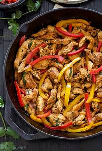 Skillet Chicken Fajitas - Recipe Runner