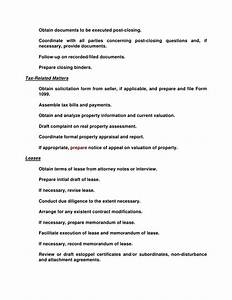 responsibilities of the professional paralegal With commercial real estate loan documentation checklist