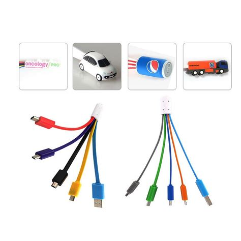 powerbank set 4 in 1 charger cable with custom shape brand logo