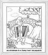 Accordion Coloring Bay Area Symphony Morrie Turner Complements Creators Pals Wee 1999 sketch template