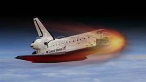 Space Shuttle re-entry into atmosphere creating excessive ...