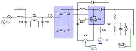 single phase supply  power factor correction plexim