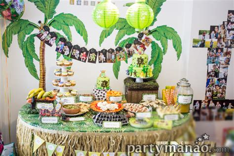 tag theme ideas for 1st birthday party for boy jungle themed birthday party dessert ideas