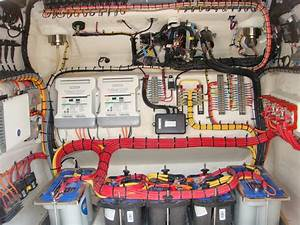 New To Blogging But Expert   Wiring A Boat  Wiring In Console Of Concept Open  U0026 Cabin 4400