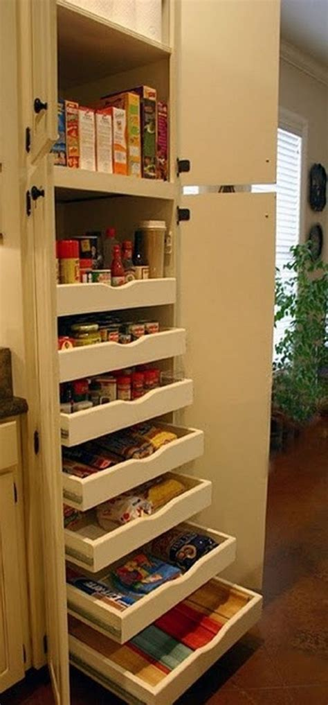 kitchen cabinets pull out drawers how to build pull out pantry shelves diy projects for 8121
