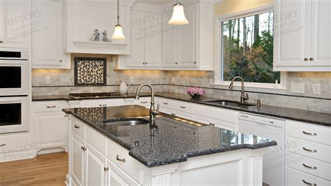 polished blue pearl granite countertops kitchen granite