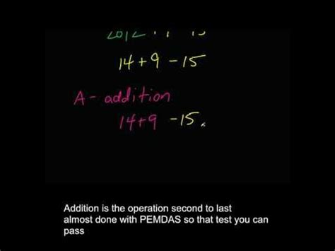 Math PEMDAS Rap