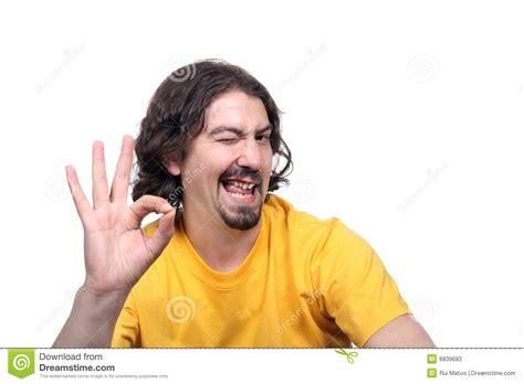 Man Blinking An Eye Stock Image. Image Of Casual, Rolmat