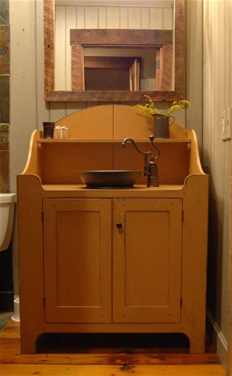 central kentucky log cabin primitive kitchen eclectic bathroom louisville