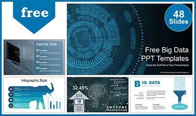 big data visualization powerpoint templates