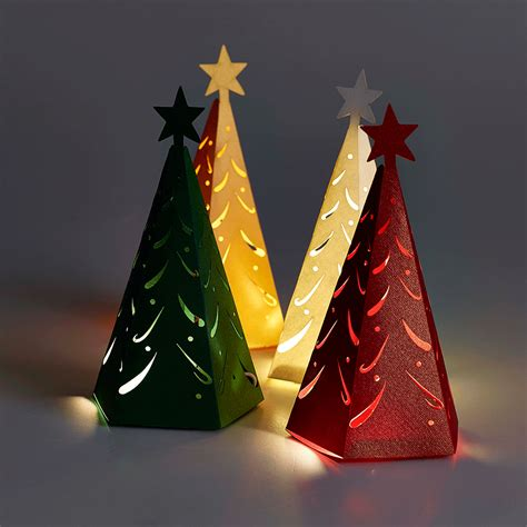 christmas tree favour boxes for winter weddings and