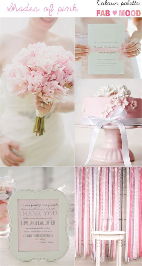 Pink Wedding Colour Mood Board 1   Fab Mood   Wedding