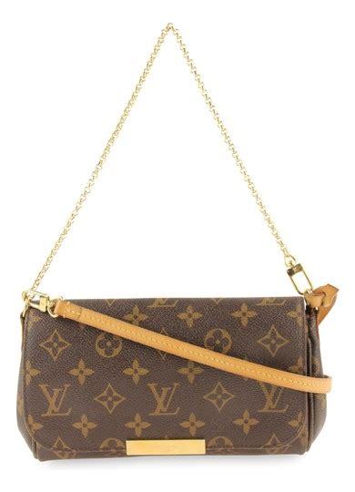 louis vuitton favorite pm monogram brown coated canvas clutch tradesy