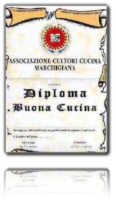 diploma di cucina diplomi