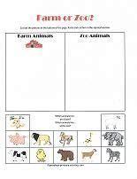 zoo animal worksheet  kindergarteners