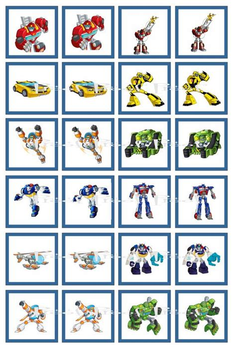 Transformer Cupcake Topper Template by Instant Download Transformers Rescue Bots Digital Memory