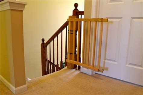 Baby Gate For Stairs With Banister And Wall by Bob Vila Radio Child Safety Gates Bob S Blogs