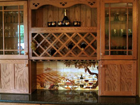 kitchen cabinet wine rack insert the vineyard tile murals tuscan wine tiles kitchen 7974