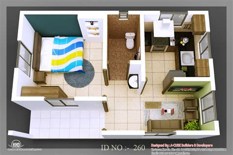 home and floor decor 3d isometric views of small house plans kerala home