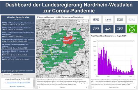 Klicken sie hier, um dies zu überprüfen. NRW-Dashboard zur Corona-Pandemie