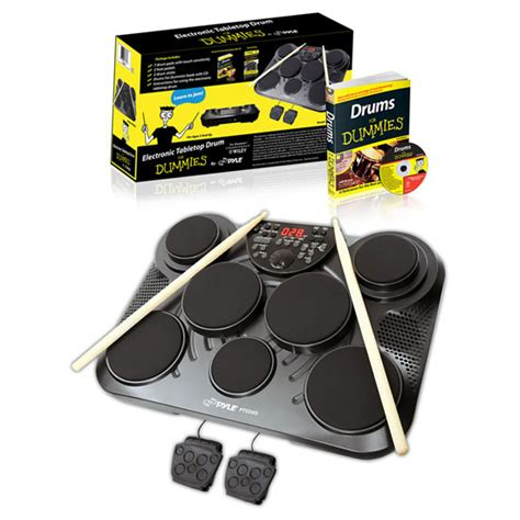 Electric Cars For Dummies by New Pyle Pted05 Electric Drum 7 Pads 2 Pedals W Drums For