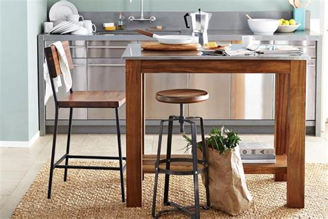 small rustic kitchen island 6 portable kitchen islands to solve your small kitchen woes 5546