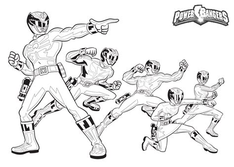 Original Power Ranger Coloring Pages Here Are Thepower