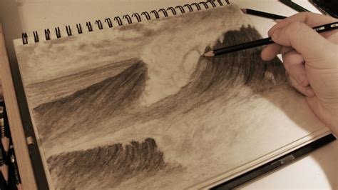 Boat Crashing Drawing by How To Draw Realistic Crashing Waves W Commentary