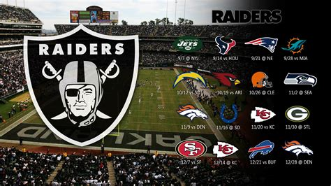 2018 Oakland Raiders Schedule