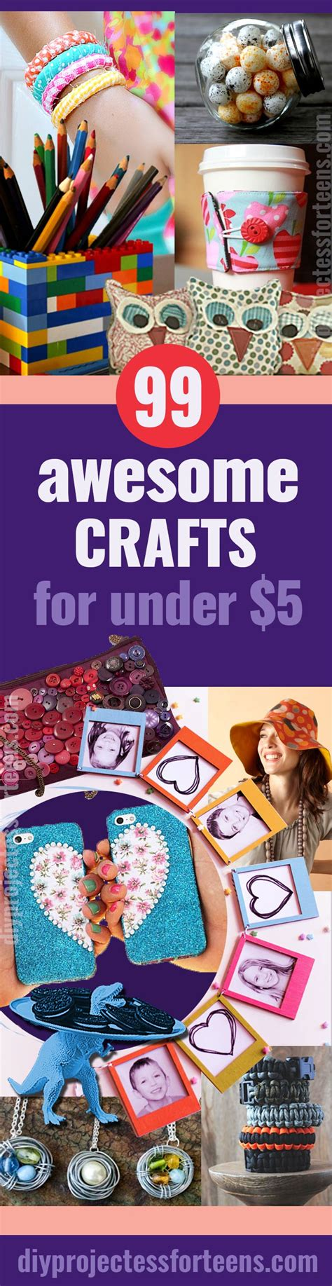 99 Awesome Crafts You Can Make For Less Than $5 Diy